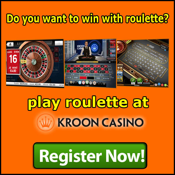 Win with Roulette at Kroon Casino